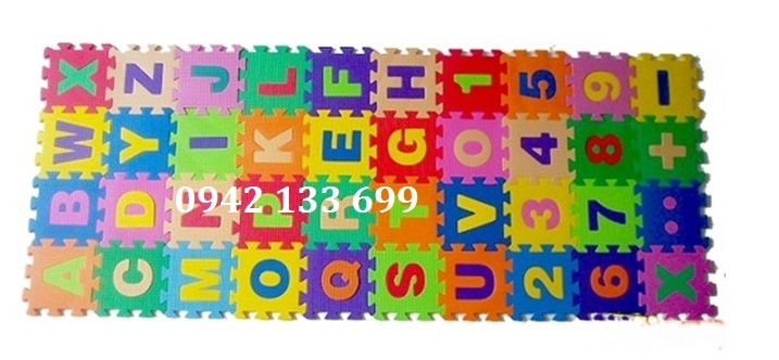 Thảm Cho Trẻ Thơ Mini Chữ Số 15x15cm