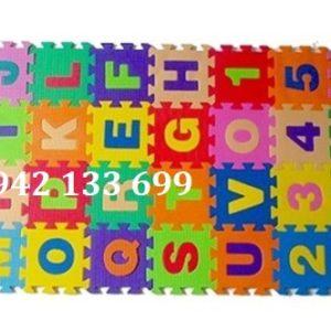 Thảm Xốp Lót Sàn Mini Chữ Số 15x15cm